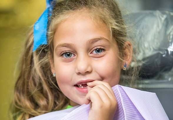 Young girl at children's dentistry appointment