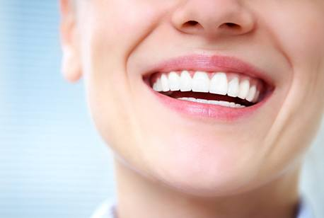 Closeup of beautiful smile after dental bonding