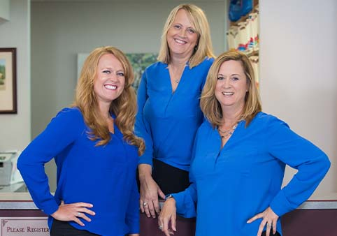 Three Loveland, OH dental office team members
